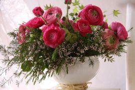 Soupière fleurie - La Saladelle