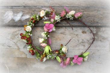 Couronne fleurie - Mariage Bretagne 2017 - La Saladelle