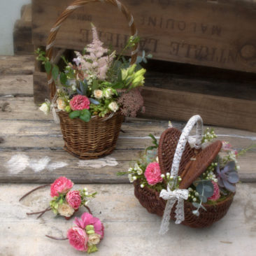 Petits paniers fleuris - Mariage 2017 - La Saladelle