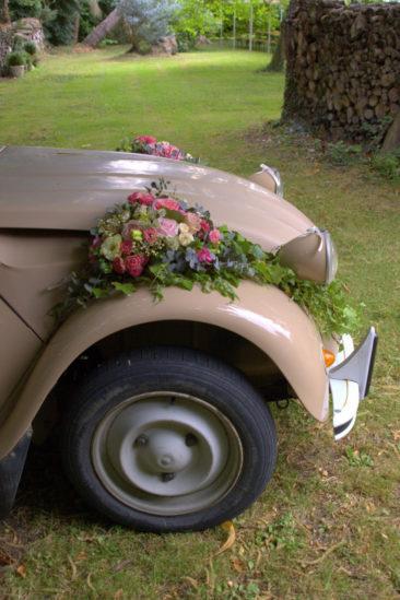 Décor voiture - Mariage Bretagne 2016 - La Saladelle