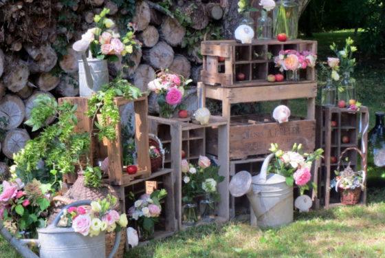 Décor champêtre - Mariage Bretagne 2017 - La Saladelle