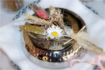 Décoration fleurs séchées pour serviettes - La Saladelle