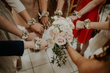 Bouquet de mariée -et bracelets - Tiphaine & Julien  (Photo Cyrielle Riba)