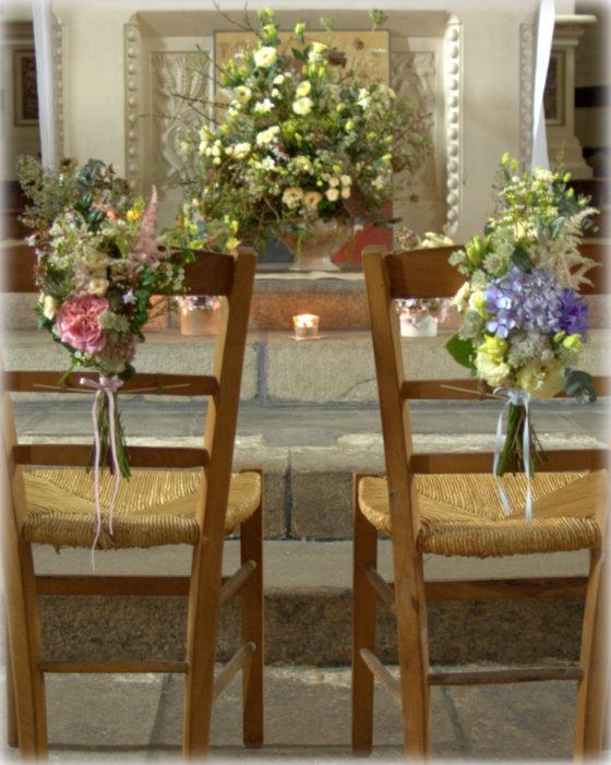 Chaises d'église mariage Bretagne 2017 - La Saladelle