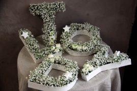Petites lettres fleuries - La Saladelle