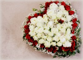 Cœur fleuri de deuil - La Saladelle