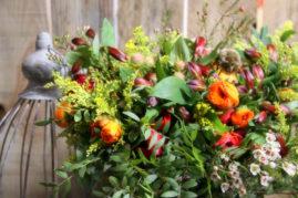 Bouquet champêtre automnal - La Saladelle - Atelier création florale Perpignan et St Féliu d'Avall