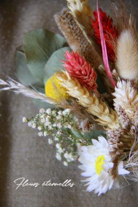 Petit bouquet fleurs séchées - La Saladelle - Atelier création florale Perpignan