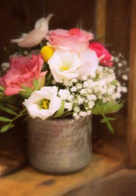 Petite composition fleurie - La Saladelle - Atelier création florale Perpignan et St Féliu d' Avall