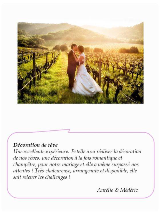 Avis mariage Aurélie&Médéric - La Saladelle