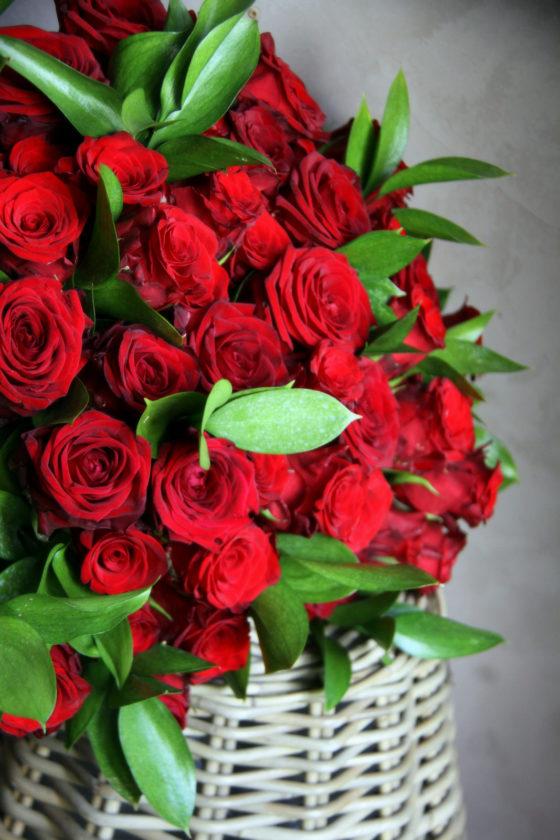 Bouquet de 55 roses rouge - Atelier floral - La Saladelle - Perpignan