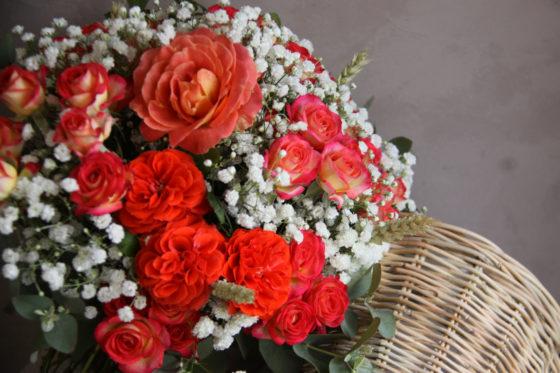 Bouquet orange - Atelier floral - La Saladelle - Perpignan