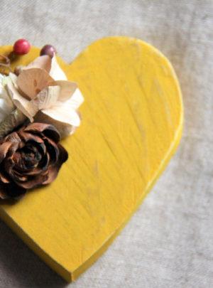 Fleurs-séchées-Petit-cœur-Jaune