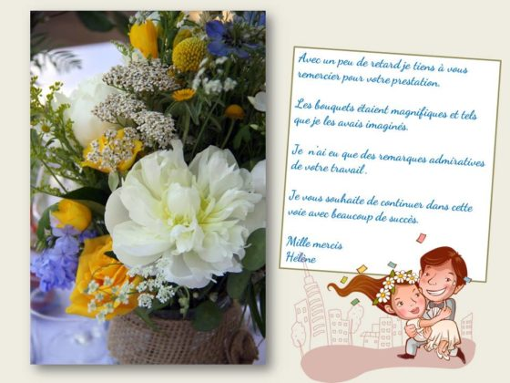 Avis mariage HF avec LA SALADELLE - Atelier floral