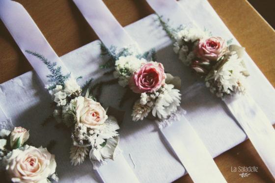 Mariage 2018 T&J - Bracelets demoiselles d'honneur - La Saladelle - StFeliuDAvall