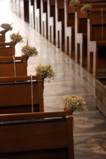 Décoration de l'église - Mariage Estelle & Joris - La Saladelle 2018