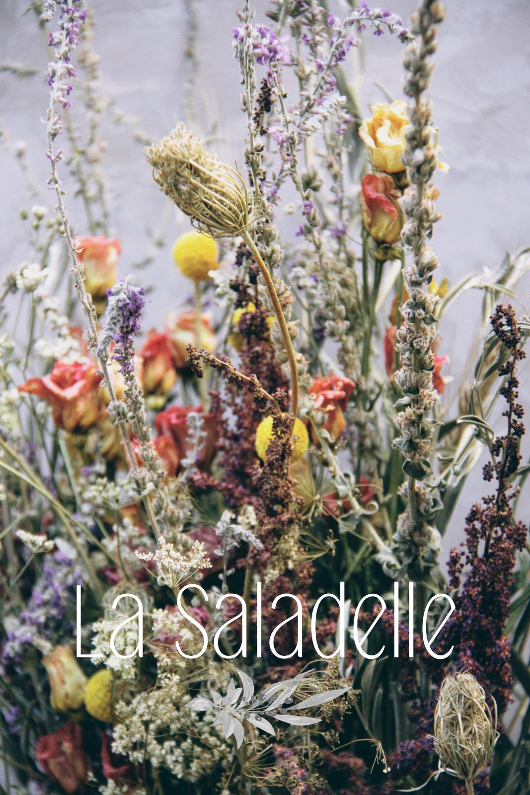 Fleurs séchées #7# - Grand bouquet champêtre - La saladelle