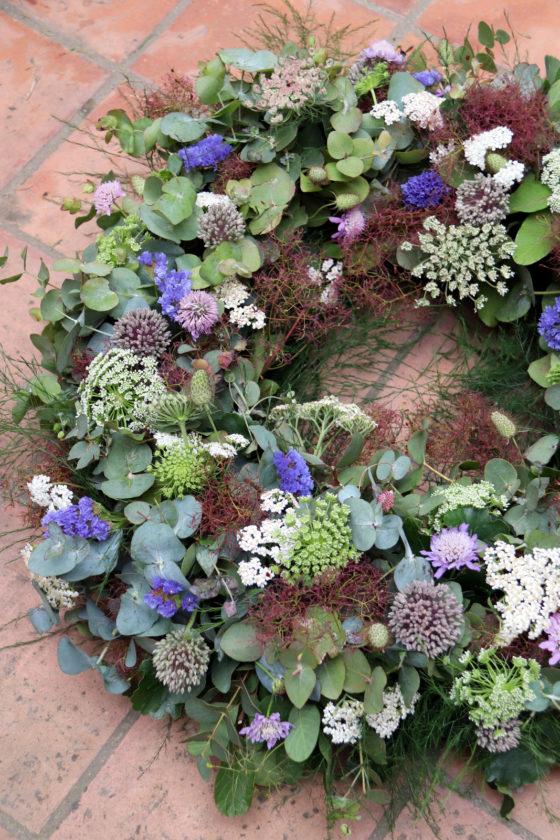 Couronne de deuil Nature - Atelier floral La Saladelle